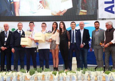 La premiazione dei vincitori della Targa Junior