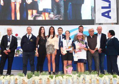 La premiazione delle vincitrici della Targa Rosa