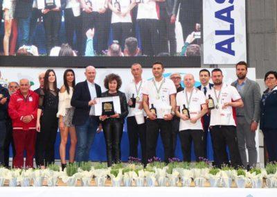 La premiazione dei vincitori della Targa d'oro